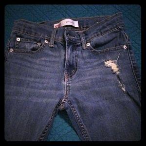 👖EUC DISTRESSED LEVI'S 511 JEANS SIZE 10👖